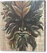 Beguiling Green Man Canvas Print