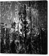 Behind A Waterfall -- B And W Canvas Print