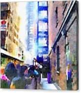 Behind Broadway Canvas Print