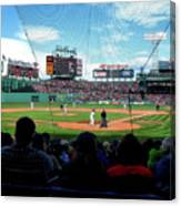 Behind Home Plate At Fenway Canvas Print