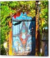 Behind The Blue Door Canvas Print
