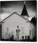 Behind The Church Canvas Print