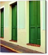 Behind The Green Doors Canvas Print