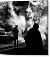 Behind The Smoke Canvas Print