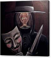 Behind This Mask Canvas Print