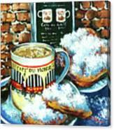 Beignets And Cafe Au Lait Canvas Print