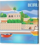 Beirut Lebanon Horizontal Scene Canvas Print