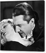 Bela Lugosi  Dracula 1931  Feast On Mina Helen Chandler Canvas Print