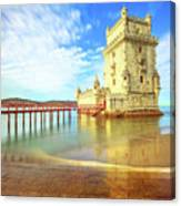 Belem Tower Reflects Canvas Print