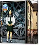 Belfast Mural - Butterfly - Ireland Canvas Print