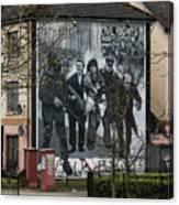 Belfast Mural - Civil Rights Association - Ireland Canvas Print