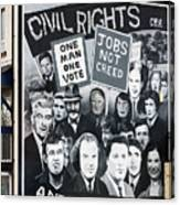 Belfast Mural - Civil Rights - Ireland Canvas Print