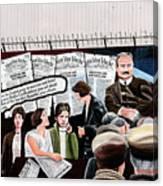 Belfast Mural - Headlines - Ireland Canvas Print