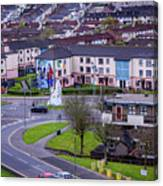 Belfast Mural - Derry Neighborhood - Ireland Canvas Print