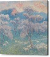 Belgian, Moutons Aux Amandiers  Canvas Print