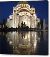 Belgrade Serbia Orthodox Cathedral Of Saint Sava  Canvas Print