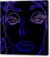 Belinda In Blue Canvas Print