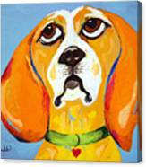 Belinda The Beagle Canvas Print