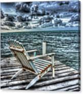Belize Beach Chair #2 Canvas Print