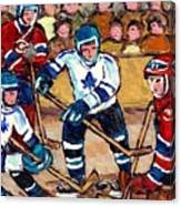 Bell Center Hockey Art Goalie Carey Price Makes A Save Original 6 Teams Habs Vs Leafs Carole Spandau Canvas Print