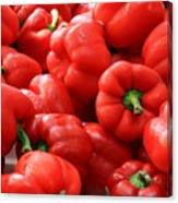 Bell Peppers Red Canvas Print