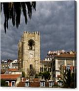 Bell Tower Against Roiling Sky Canvas Print
