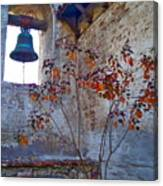 Bell Wall And Eastern Wall Of Serra Chapel In Sacred Garden Mission San Juan Capistrano California Canvas Print