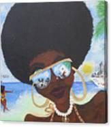 Bella En Miami - Blm Canvas Print