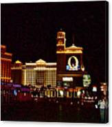 Bellagio And Caesar's Palace In Las Vegas-nevada Canvas Print