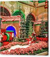 Bellagio Christmas Train Decorations Angled 2017 2 To 1 Aspect Ratio Canvas Print
