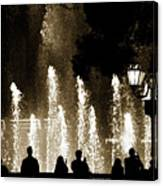 Bellagio Fountain At Night Canvas Print