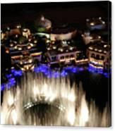 Bellagio Hotel Fountain Canvas Print