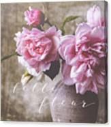 Belle Fleur Pink Peonies Canvas Print
