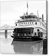 Belle Of Louisville Docked Canvas Print