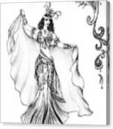 Belly Dancer With Veil. Friend Of Ameynra Canvas Print