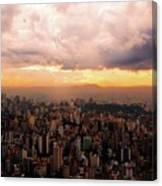 Belo Horizonte - The Cityscape From Above Canvas Print