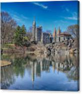 Belvedere Castle And Turtle Pond Canvas Print