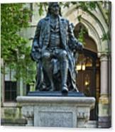 Ben Franklin At The University Of Pennsylvania Canvas Print