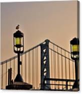 Ben Franklin Bridge In Early Morning Canvas Print