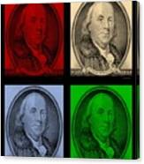 Ben Franklin In Colors Canvas Print