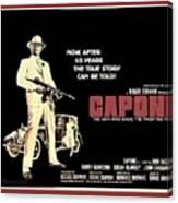 Ben Gazarra British 4 Sheet Theatrical Poster Capone 1975 Color Added 2016 Canvas Print