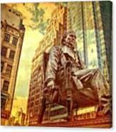 Ben In New York City Canvas Print