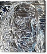 Ben In Wood Negative Art Canvas Print