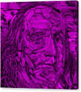 Ben In Wood Purple Canvas Print