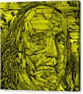 Ben In Wood Yellow Canvas Print
