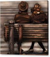 Bench - A Couple Out Of Time Canvas Print