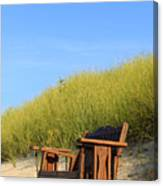 Bench At The Beach Canvas Print