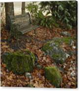 Bench In Fall Canvas Print