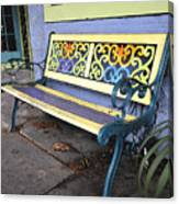 Bench Of Color Canvas Print