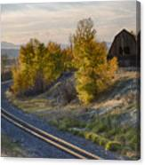 Bend In The Tracks Canvas Print
